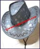Ladies Leatherette Western Cowboy Hat