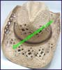 Ladies Macrame Western Cowboy Hat