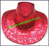 Ladies Sequin Western Cowboy Hat