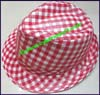 Men's Plaid Trilby Hat