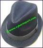Men's Solid Color Trilby Hat