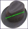 Men's Striped Trilby Hat