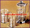Coffee Set Glass Chrome