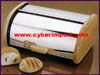 Serving Bread Box Stainless Wood