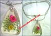 Dry Flower Resin Necklace