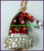 Rhinestone Christmas Necklace