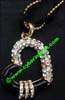 Rhinestone Glass Necklace