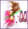 Hair Ornament Clip Jaw Beads Textile