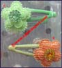 Textile Snap Hair Pins